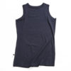 A black muscle tank top in jersey.