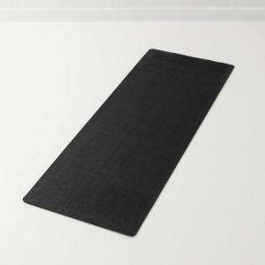 PU yoga matta med super grepp, svart
