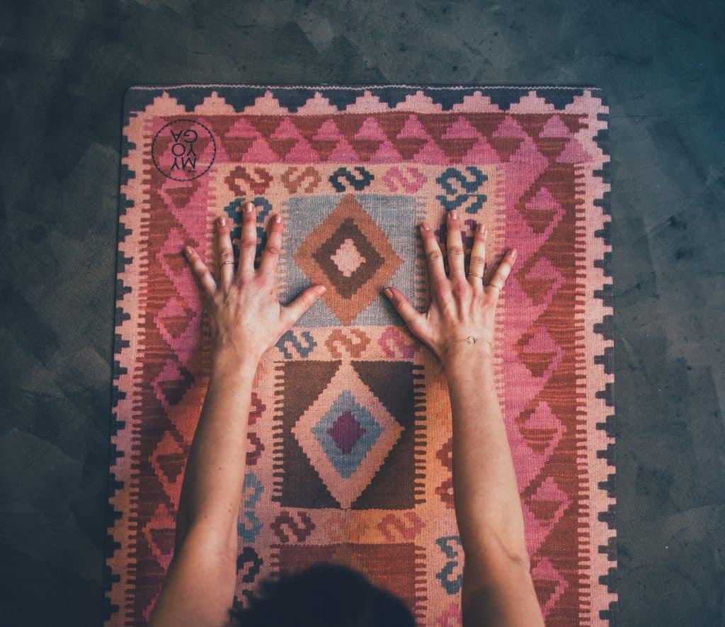 yoga mat pink kelim
