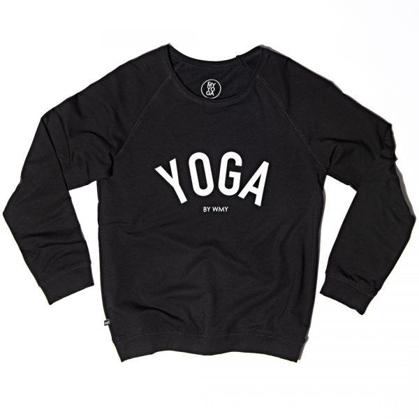 WMY yoga svart collegetröja