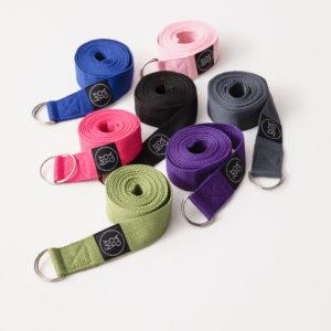Yoga straps, yoga bälten i en massa färger.