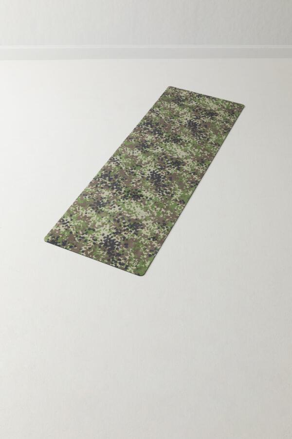 Camouflage mönstrad yogamatta