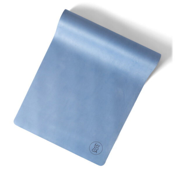 Isblå yogamatta