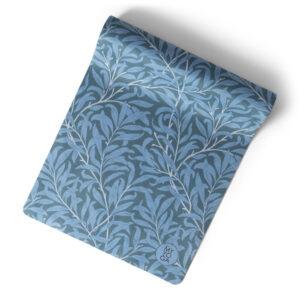 Art Nouveau yogamatta i blå färger