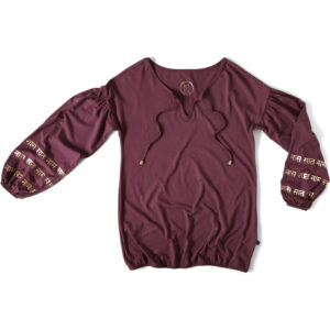 Phany puffsleeved top in the color plum