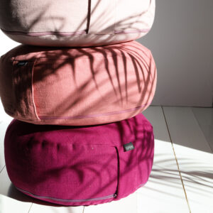 Soft Pink, Dusty Rose and Purple Meditation pillow