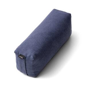 Itvara, indigo blått resebolster. i linne