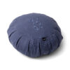 Indigo blå meditationskudde, zafu, i linne.