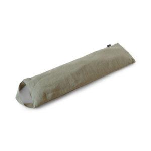 Värmekudde alt. tyngdkudde i vetiver grönt linne, fylld med körsbärskärnor - 100% naturligt!